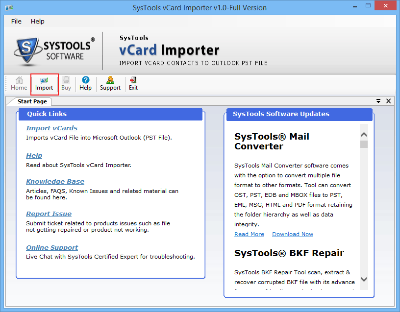 import vcard contacts to outlook