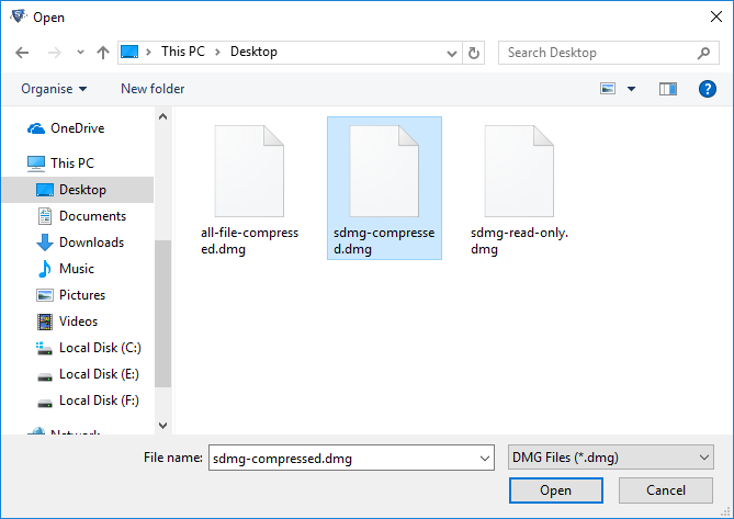 open mac os x dmg files on windows