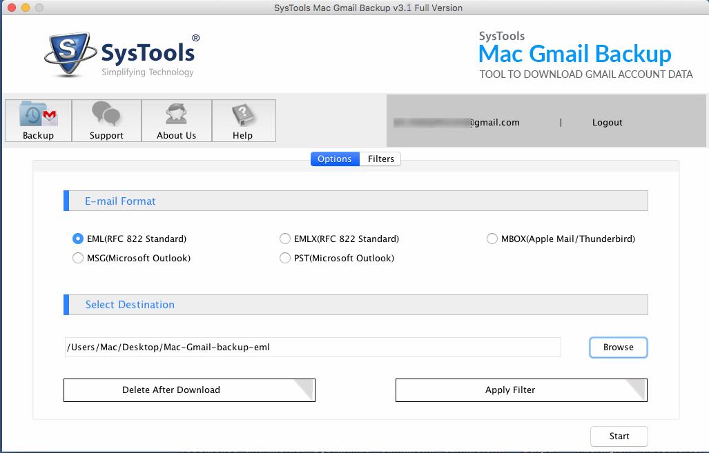 mac gmail data