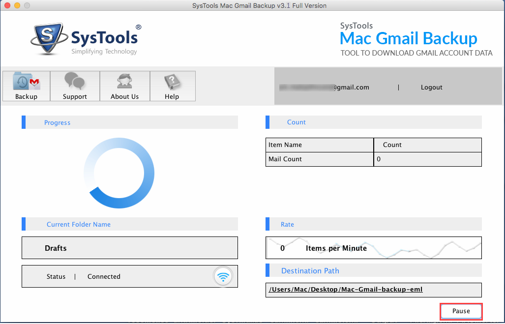 gmail MAC to EML