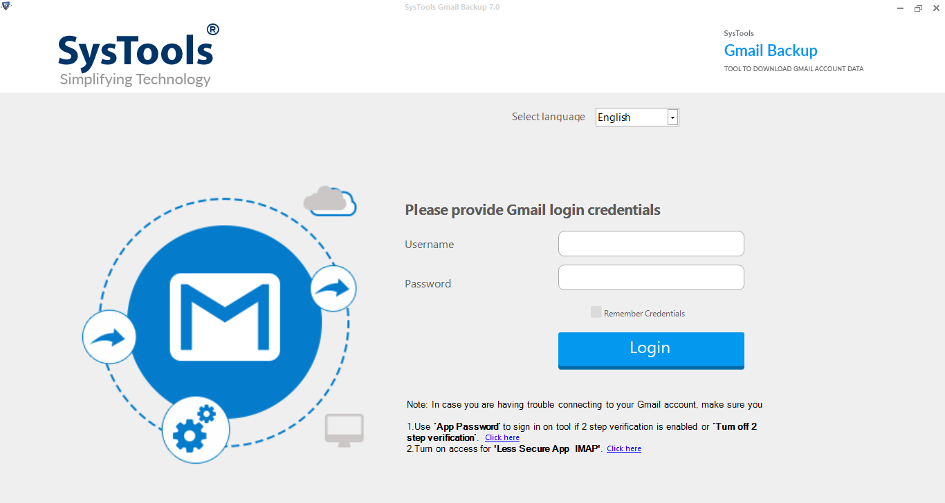 Open gmail to outlook software