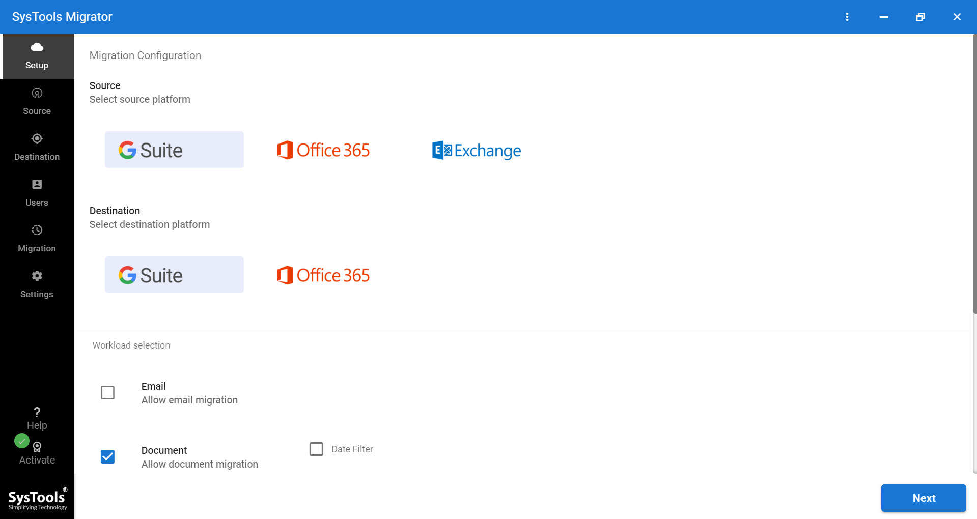 tool to move G Drive to OneDrive