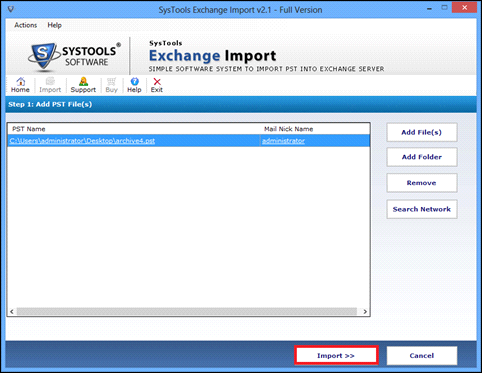 move outlook pst file in exchange edb format