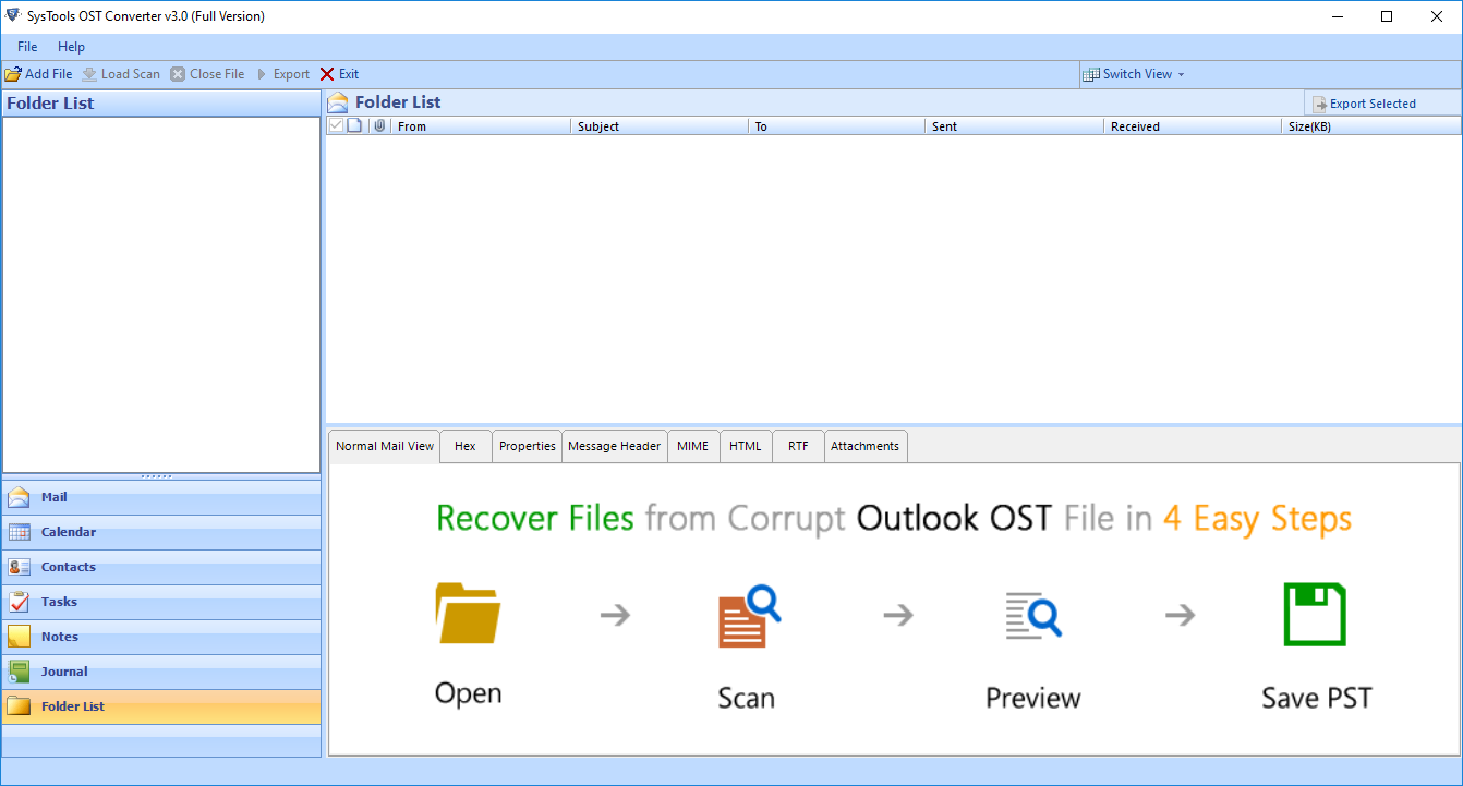 Outlook OST file to PDF software