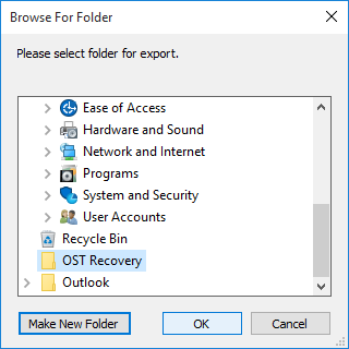 create new folder to save file