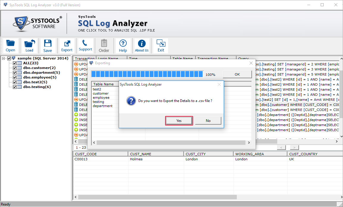 preview sql data detail