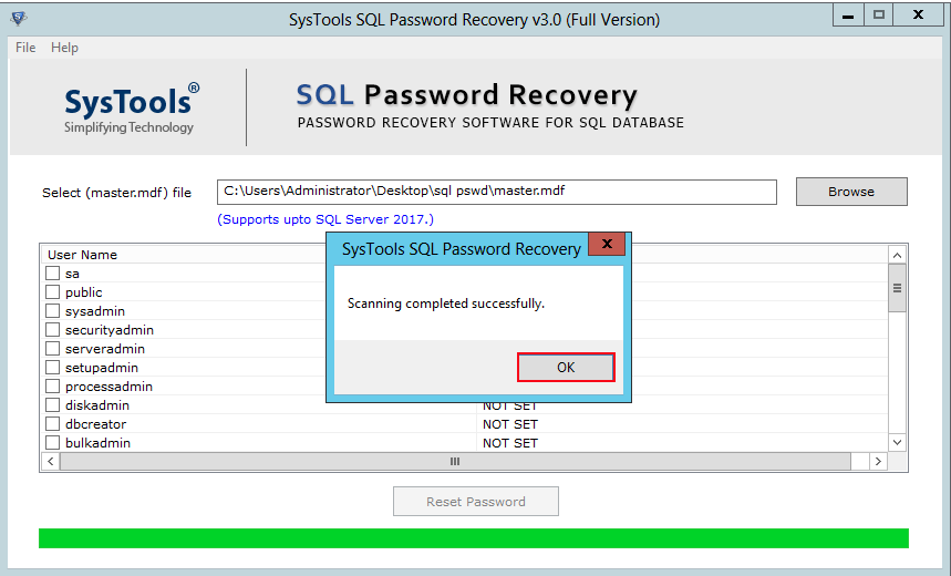 how to change sql server password
