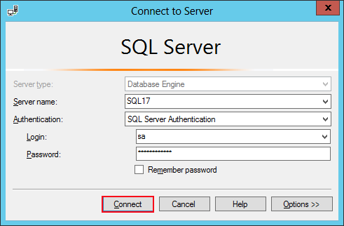 sql password restrictions removal complete the process